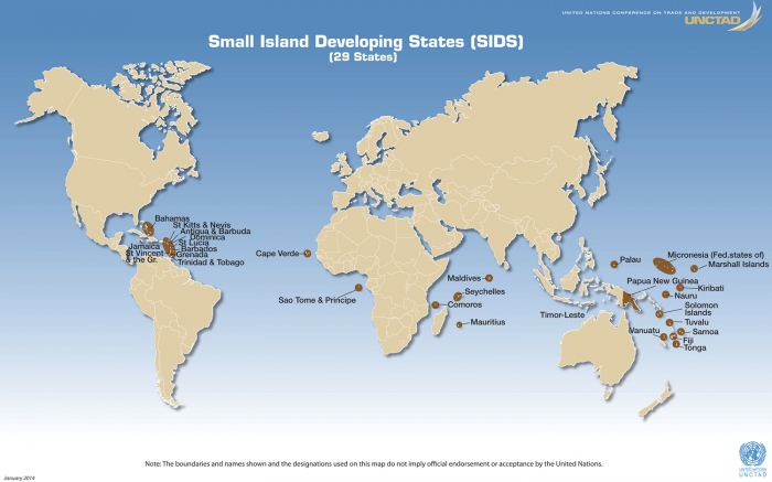 SIDS World Map ©UNDP