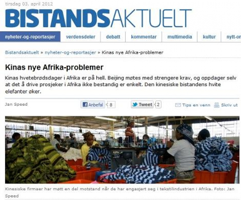 Kinas nye Afrika-problemer