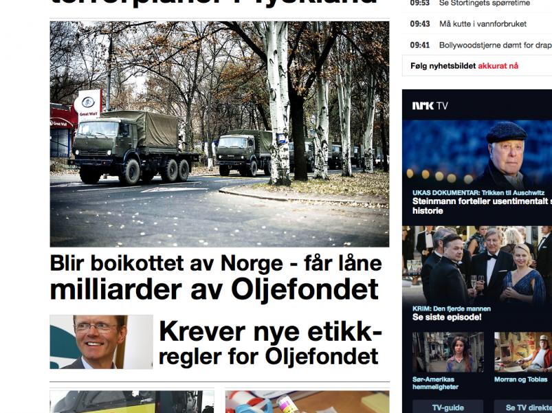 NRK med oppslag om SLUG sitt krav om etiske retningslinjer for statsobligasjonar