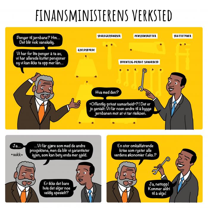 Tegnestripe Ep14 Finansministerens Verksted