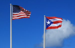 Flags Of Puerto Rico And Usa Trump Sak