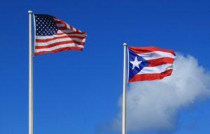 Flags Of Puerto Rico And Usa Trump Sak