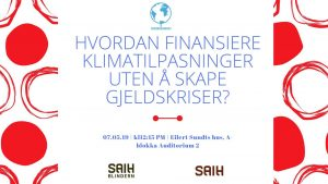 Klimafinansiering Blindern Banner 07052019