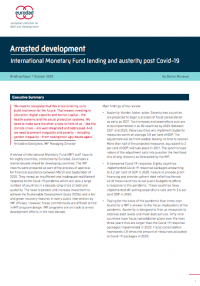 Arrested Development: International Monetary Fund lending and austerity post Covid-19